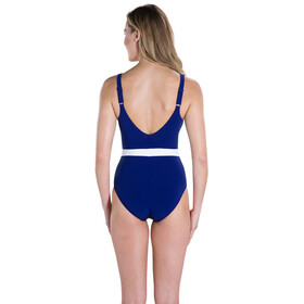 speedo CrystalGleam 1 Piece Swimsuit Women black/deep indigo/white